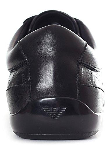 Emporio Armani Præget Formelle Træner Herre Sneaker Sort Sort TB3zNt