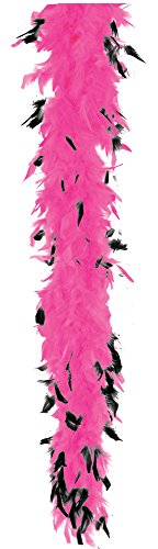 (Be Wicked Boa Feather 40 Hot Pk Blk Tip)