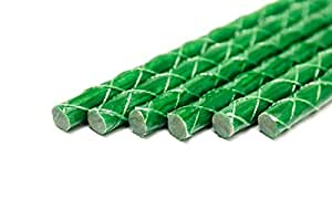 Eco-Friendly 2-FT Green Fiberglass Garden Stakes, Tomato Stakes, Plant Stakes (Pack of 20) (3-FT (Pack of 20))