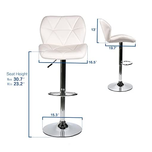 Kitchen Bar Stools Modern Swive Adjustable Barstools Counter Height Leather Padded with Shell Back Home Bar Restaurant Dining… modern barstools