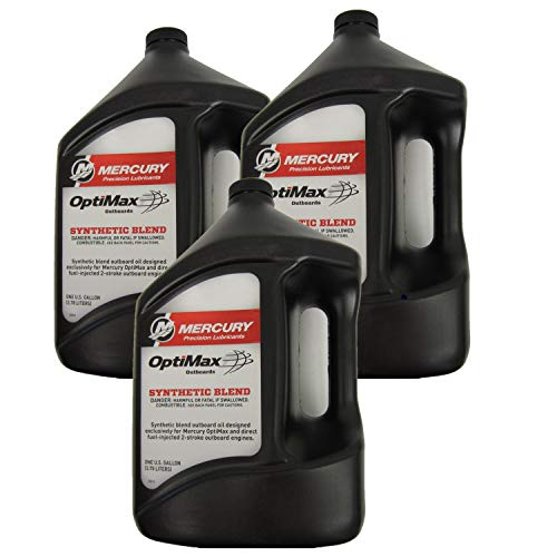 New OEM Mercury New Oem Synthetic Blend Optimax/Dfi Outboard Engine Oil Case 3 Gallons, 92-858037K01x3-2