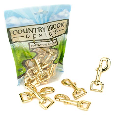 (25 - Country Brook Design | 3/4 Inch Brass Plated Heavy Swivel Snap Hooks)