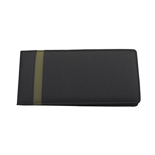 COI BLACK AND GREEN LEATHERITE CHEQUE BOOK HOLDER / DOCUMENT HOLDER