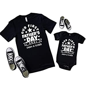 fathers-day-gift-matching-shirts-for-father-and-newborn-son