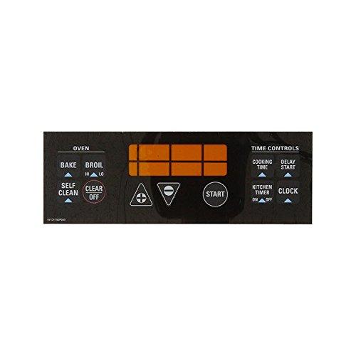 WB27K5337 GE Range Clock Plate-Black ()