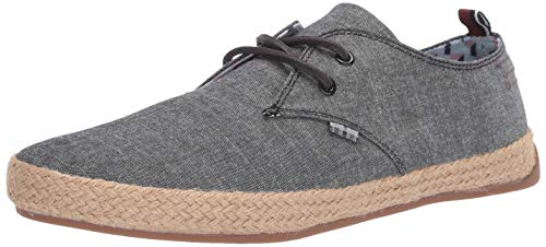 Ben Sherman Men's New Prill Oxford Sneaker, Black Linen, 10.5 M US ()