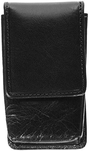 Italian Leather Holder Case with Mirror for Lipsticks, Balms and Lip Gloss with Magnetic Closure