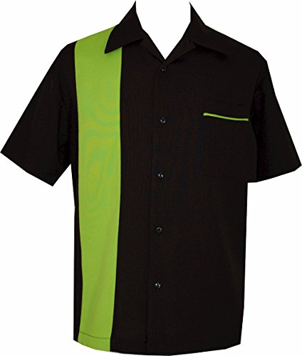 Bowling-Retro-Camp-Short-Sleeve-Mens-USA-Made-Shirt-BeRetro-LimeShock