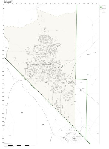 Pahrump Nv Zip Code Map.Amazon Com Zip Code Wall Map Of Pahrump Nv Zip Code Map Laminated