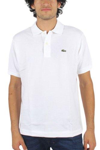 Lacoste Men's Short Sleeve Pique L.12.12 Classic Fit Polo Shirt, White, 4