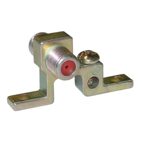 F-pin Coaxial Grounding Block,1 GHz, Single F-pin