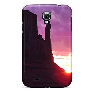 Hot Fashion ODh1045xgla Design Case Cover For Galaxy S4 Protective Case (purple Sunset In Monument Valley)