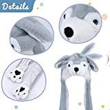 Hopearl Husky Hat with Ears Moving Jumping Pop Up