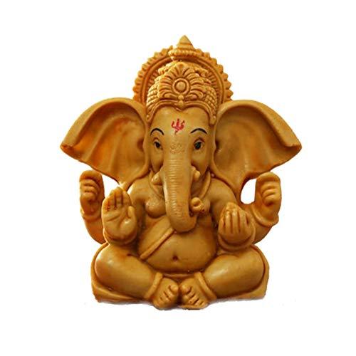 Ascension ® Handcrafted Yellow Ochre Ganesha Beautiful Lord Ganesha Idol Figurine Showpiece Sculpture Hindu