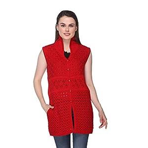 eWools Women's Winter wear Sleeveless Woolen Cardigan