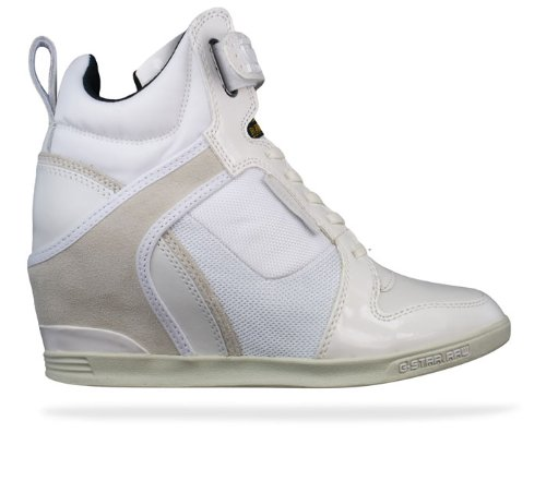 14001884874b G-Star Raw Yard Belle Wedge Womens sneakers Shoes - White - SIZE US ...