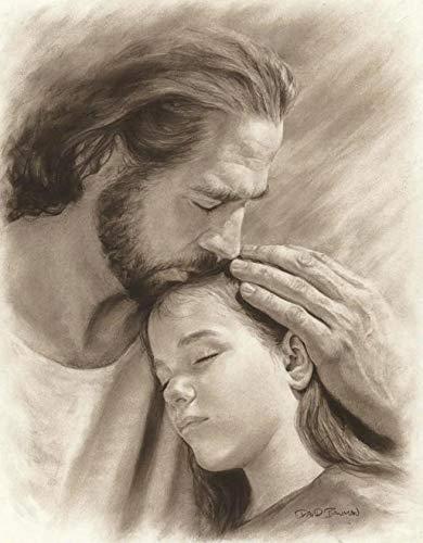 David Bowman My Child Wall Art Print Jesus Christ Kissing Child Religious Spiritual Christian Fine Art (11