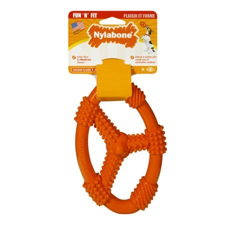 Pack of 8 - Nylabone Fun 'N Fit Flexible Oval Ring, Medium