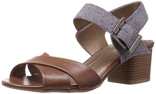 LifeStride Women Rache Heeled Sandal Cognac Denim