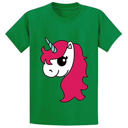 Likeu Official Unicorn Club Teen Personalized Crew Neck T Shirts Green