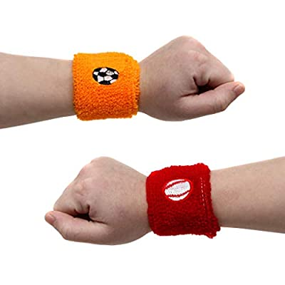 Sports Wristbands For Kids In Assorted Colors And Sports Designs Soccer, Basketball, Football, and Baseball - Sports Party Favor Pack Of 24: Toys & Games