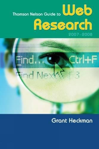 Thomson Nelson Guide To Web Research 2007/2008