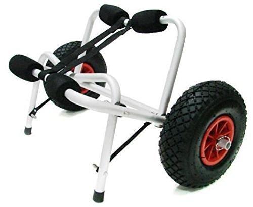 Aluminum Kayak Jon Boat Canoe Gear Dolly Cart Trailer Carrier Trolley Wheels
