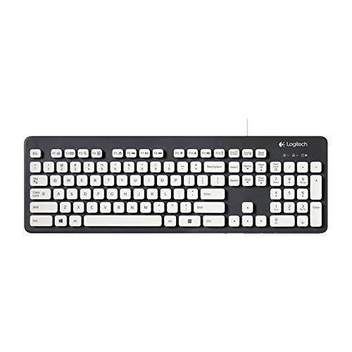 (Wired Keyboard K310 USB Washable Wired Keyboard for Windows XP/Vista / 8/7 System Computers, with 8 Degree Tilt Bracket )
