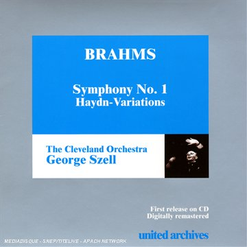 Brahms Variations On A Theme Of Haydn / Symphony No.1. (Cleveland Orchestra/ George Szell. Rec. 1