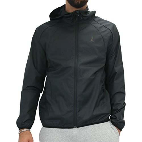 Nike Mens JSW WINGS WINDBREAKER, BLACK/BLACK, XL by NIKE