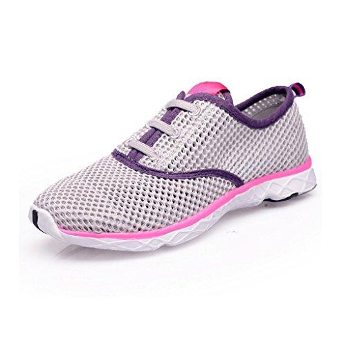 Drying Women's Oriskey Pink Shoes Quick Aqua Water with Gray UZZazqPW