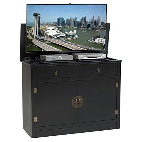 TVLiftCabinet, Inc Adagio black TV Lift Cabinet - 49 Piece Storage System