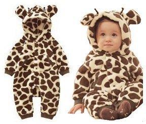 Soft Fluffy Material of Giraffe 90 Size of Children's Costumes Onesize Pajama Halloween (Baby Giraffe Costume)