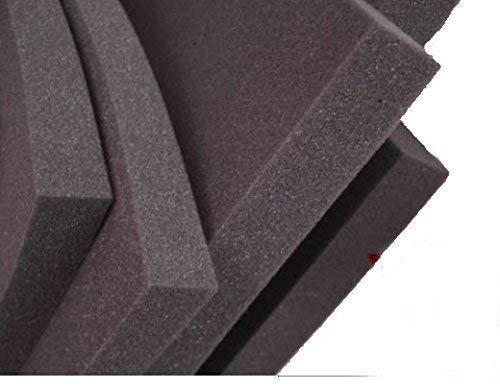 lulushop glatt-schaumstoff-daemmung-schallschutz-fester-rolllaeden-platten D/ämmung Mousse noppenschaum100x50-cm blanc et Noir 100x50x 1cm Noir