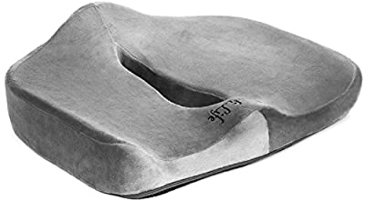 ComfiLife Orthopedic Coccyx and Posture Support Wheelchair and Office Seat Cushion for Back Pain and Sciatica Relief - Memory Foam