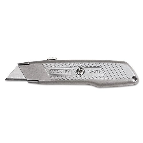 Interlock Retractable Utility Knife, Metal, Sold as 1 Each