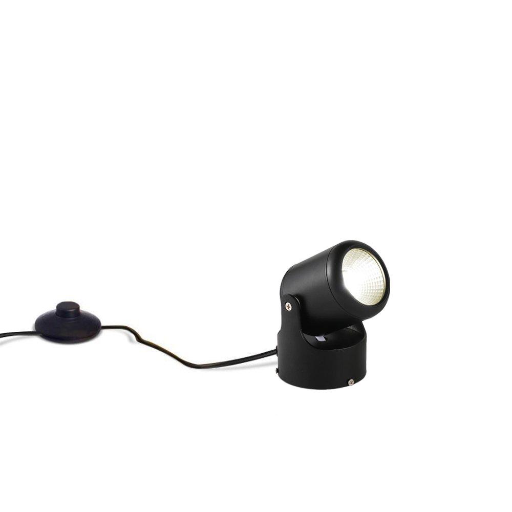 Kiven 7 Watt 5.12'' High Mini Accent Uplight,Foot Pedal Push Switch Inline Lamp Light On-Off Control,Black