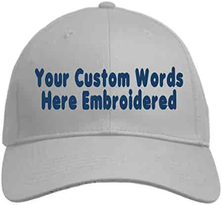 627ec4ca2859ce Custom Hat, Embroidered. Your Own Text. Adjustable Back. Curved Bill Many  Colors