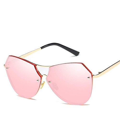 Aoligei Mode lunettes de soleil métal multilatéral irrégulière mer pièce décoratives lunettes de soleil gw3Jp0W