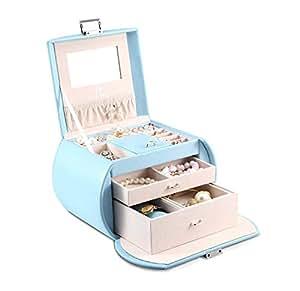 Vlando Princess Style Medium Size Jewelry Box, Fabulous Girls gifts (Blue)