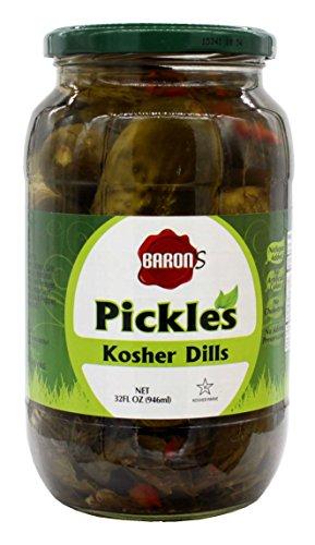 Kosher Dill Pickles (Baron's Kosher Dill Pickle's, 32 oz.)
