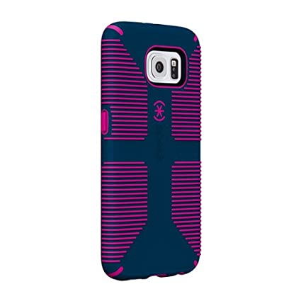 Speck Products CandyShell Grip Case for Samsung Galaxy S6 Edge - Retail Packaging - Deep Sea Blue/Lipstick Pink