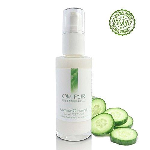 OM PUR Coconut Cucumber Facial Cleanser - Gentle Organic Dai
