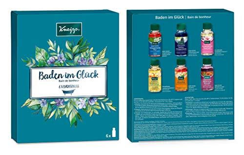 Kneipp Badekollektion, Geschenkpackung, Baden im Glück, 1x Badeset (6 x 20ml)