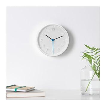 Unbekannt Ikea - Reloj de pared cuarzo destomma drchmesser 20 cm en color blanco: Amazon.es: Hogar