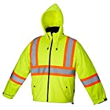 Forcefield Canada Safety Rain Jacket - LIME - LARGE