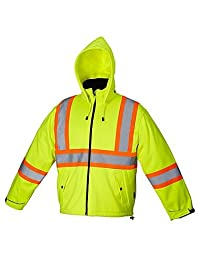 Forcefield Canada Safety Rain Jacket - LIME - X-LARGE