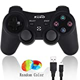 PS3 Controller Wireless Dualshock Joystick - KLNO PS39 Bluetooth Gamepad Sixaxis, Super Power, USB Charger, Sixaxis, Dualshock3 Including 1 Cable for Playstation 3(Black)