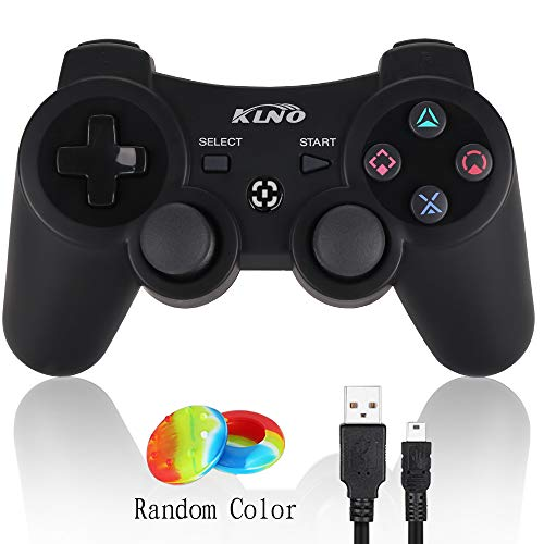 (PS3 Controller Wireless Dualshock Joystick - KLNO PS39 Bluetooth Gamepad Sixaxis, Super Power, USB Charger, Sixaxis, Dualshock3 Including 1 Cable for Playstation 3(Black))
