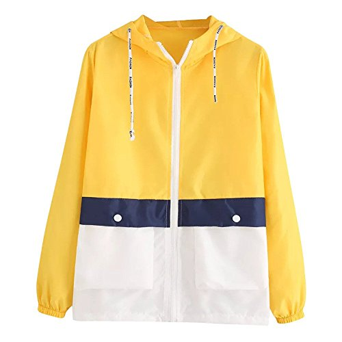 - SMALLE ◕‿◕ Clearance,Women Long Sleeve Patchwork Thin Skinsuits Hooded Zipper Pockets Sport Coat
